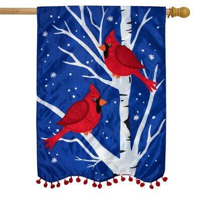 Winter Applique House Flags