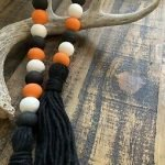 halloween wooden Bead garland