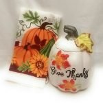 ceramic pumpkin cookie jar
