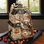fitz & floyd halloween harvest haunted house cookie jar