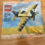 Lego Creator Plane Yellow
