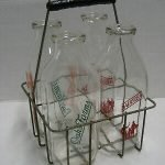 vintage advertising milk bottles