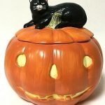 halloween ceramic pumpkin cookie jar