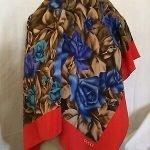 Vintage Gucci Floral Scarf