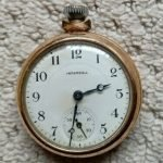 ingersoll gold plated pocket watch