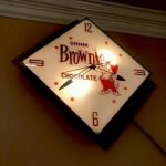 vintage advertising light up clock