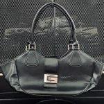 Vintage Gucci Black Leather Shoulder Bag