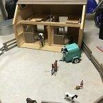 Vintage Breyer Horse Barn