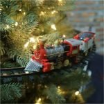 Christmas Train Set Mounts In Tree