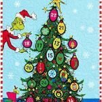 the grinch advent calendar fabric