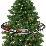 Christmas Tree Train Set On Tree