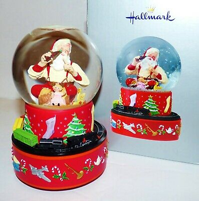 christmas snow globe with train
