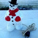 vintage light up snowman