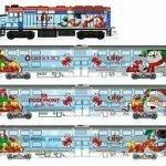 christmas train set n gauge
