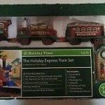 New Bright Holiday Express Christmas Train Set